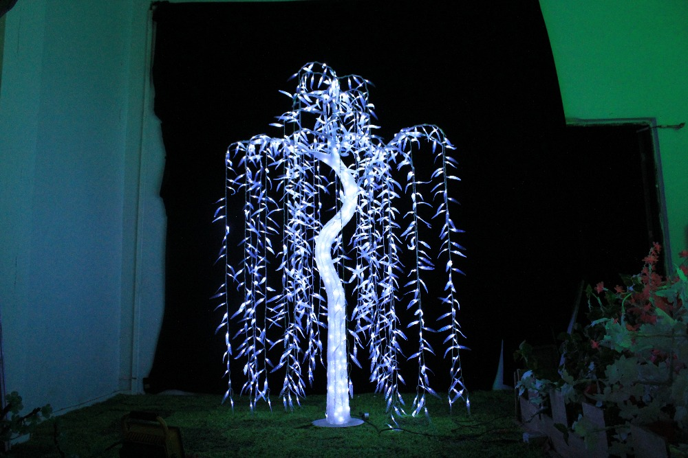Free ship 945 LEDs Willow Tree Light 1.8M/6FT Height White Christmas Holiday /Garden/Wedding ...