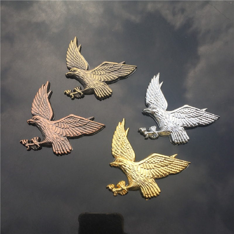 3D Eagle Zinc Alloy Metal Car Motorcycle Sticker Eagle Emblem Badge DIY Car Styling Stickers Accessories diy gecko style car motorcycle decorative zinc alloy sticker green