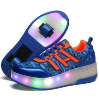 2018 Children's Shoes Casual kids Running shoes with LIght up Boys LED shoes high quality students lighting sneaker perfect gift