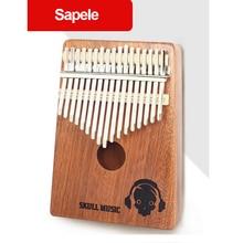 17 Key Kalimba Mbira Calimba African Sapele solid wood Thumb Piano Finger Reindeer