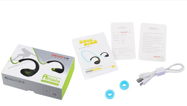 Dacom NFC Cordless Ear Hook Sport Bluetooth 4.1 earpiece Sweatproof Wireless Hifi Bass Headphones With Microphone (16)