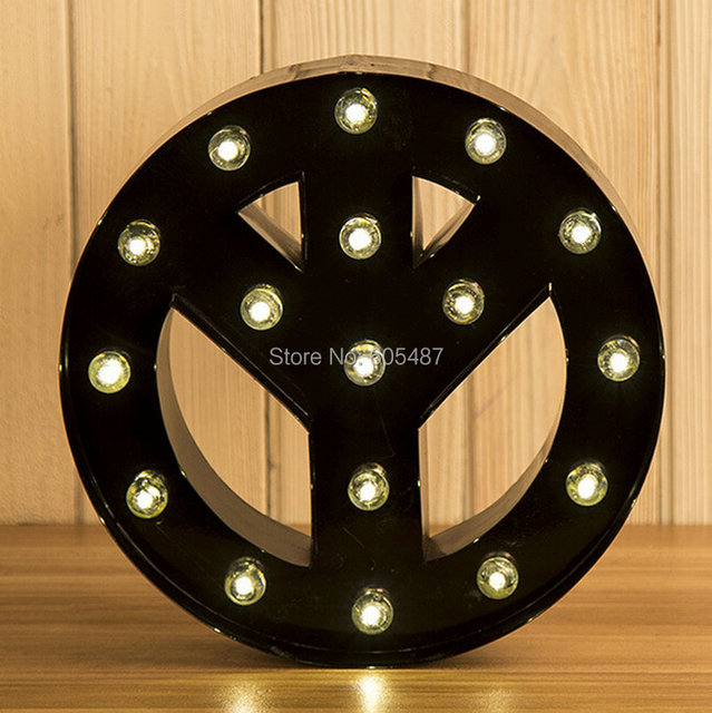 High Quality Wedding Decoration Metal Vintage Marquee Letter Lights