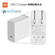 Original xiaomi mi usb ac cargador 45 w max pd tipo-c de puerto usb de salida inteligente 2.0 carga rápida qc 3.0 cable regalo