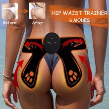 2019 Abdominal New EMS Hip Trainer Hips Muscle Vibrating Exercise Machine Home Fitness Workout Equipment Drop ship Support