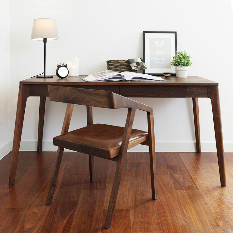 Coffee Table Minimalist Retro: American Solid Wood Desk Retro Minimalist Desktop Computer