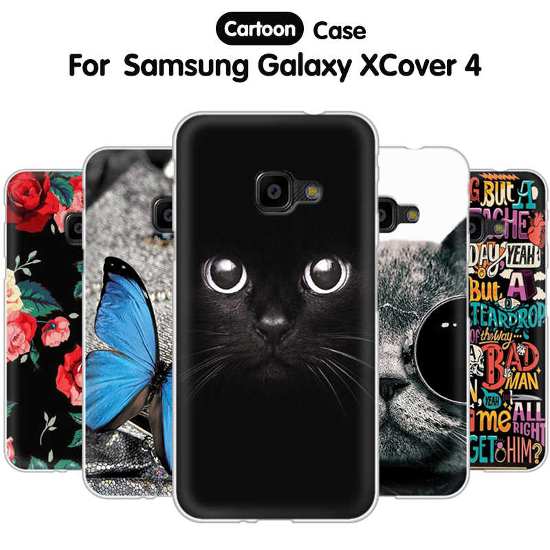 new concept 9088a 04929 EiiMoo Phone Case For Samsung Galaxy XCover 4 G390 G390F Silicone Back  Cover For Samsung Galaxy XCover 4 Case X Cover 4 Coque