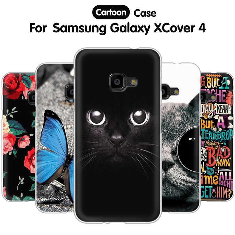 EiiMoo Phone Case For Samsung Galaxy XCover 4 G390 G390F Silicone Back Cover For Samsung Galaxy XCover 4 Case X Cover 4 Coque