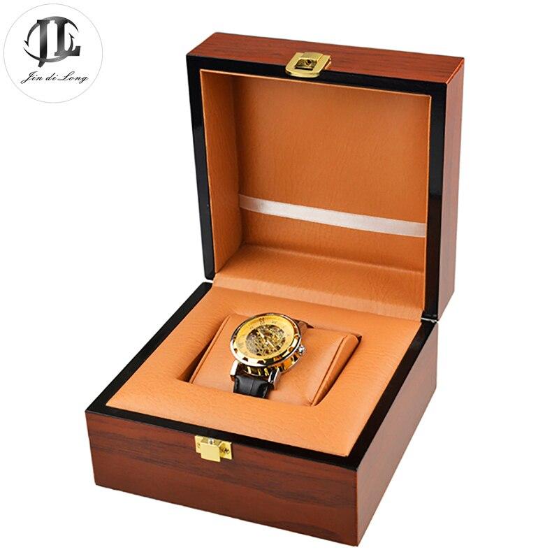 Antique bois montre boîte Durable présent peinture à l'huile PU cadeau étui rigide pour Bracelet bijoux montre boîte de haute qualité boîtes Durable