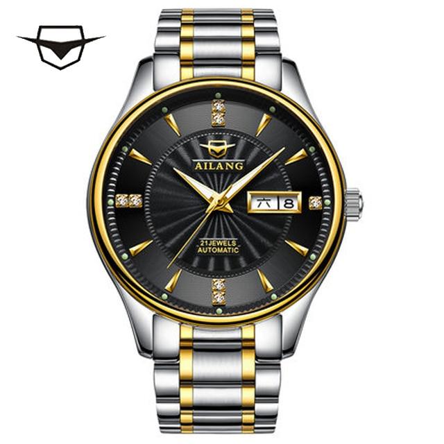 04df148f57e AILANG suíça Homens Relógio Mecânico Automático Mens relógios de Luxo Da Marca  Relógio De Pulso De Safira à prova d  água reloj hombre AL2007DZ