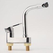 Сюэцинь бортике кухонный холодной и горячей воды смесителя кран 360 поворотным воды краны бассейна кухонной мойки ванна мыть кран Лидер продаж