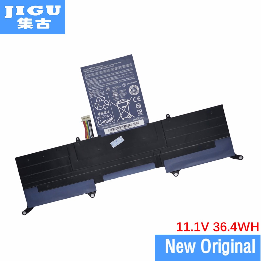 JIGU Free shipping 3ICP5/65/88 3ICP5/67/90 AP11D3F AP11D4F Original laptop Battery For ACER for Aspire S3 S3-391 S3-951 MS2346 цены