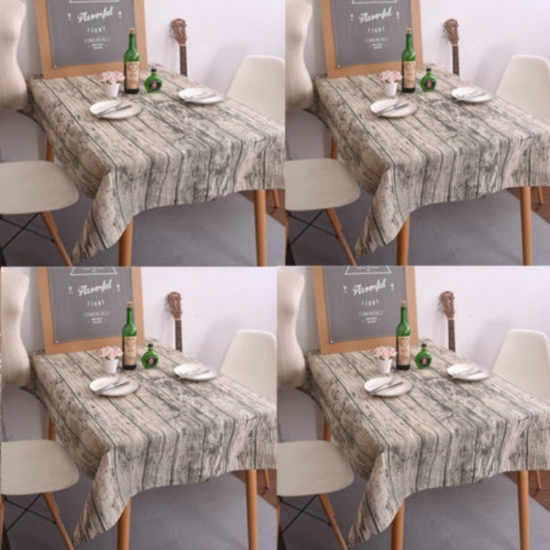 2017 New Wood Grain Table Cloth Cotton Linen Tablecloth For Table Rectangle Cover