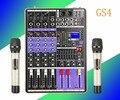 4 миксера  профессиональный один-два беспроводных микрофона для свадьбы  сцены  конференции  Аудио Микрофон