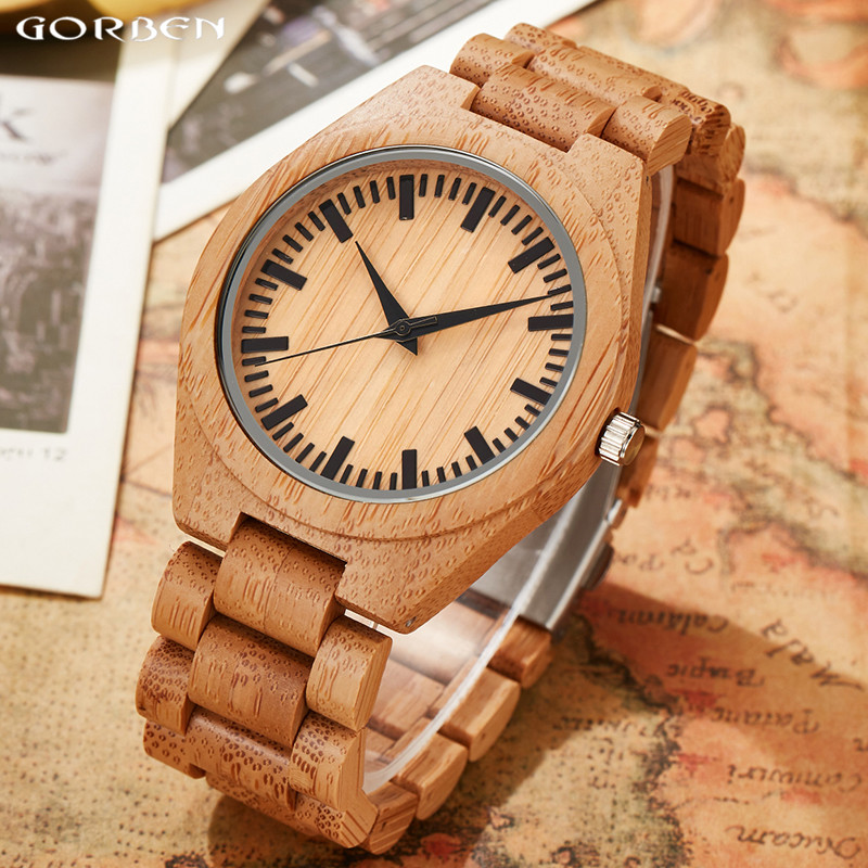 Natural Wooden Watches Fashion Men Quartz Watches Full Bamboo Wooden Band Strap Casual Wooden Wristwatches Exquisite Gift пуф wooden круглый белый