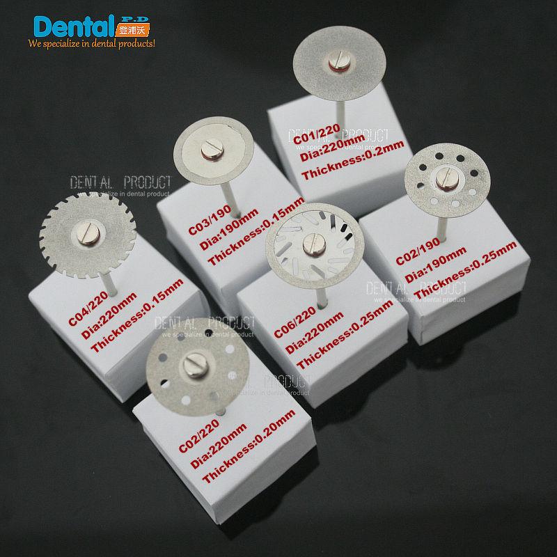 6 pcs 치과 얇은 초박형 양면 모래 다이아몬드 연마 - 구강 위생