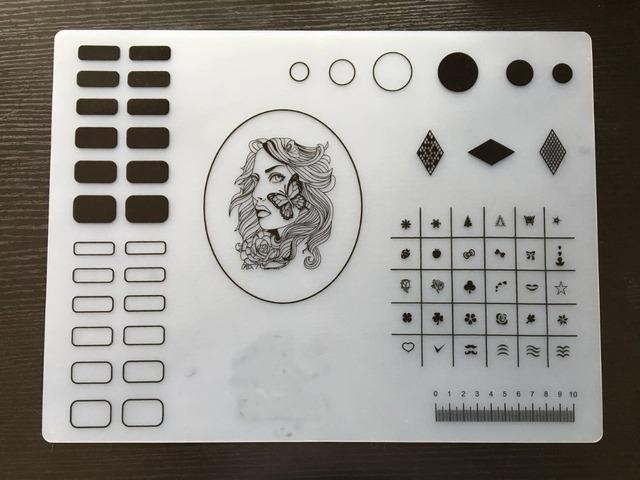 1 unid NA-64 Envío Libre Suave de Silicona Estera Estera de Transferencia Del Arte Del Clavo para el Clavo Arte Diseño