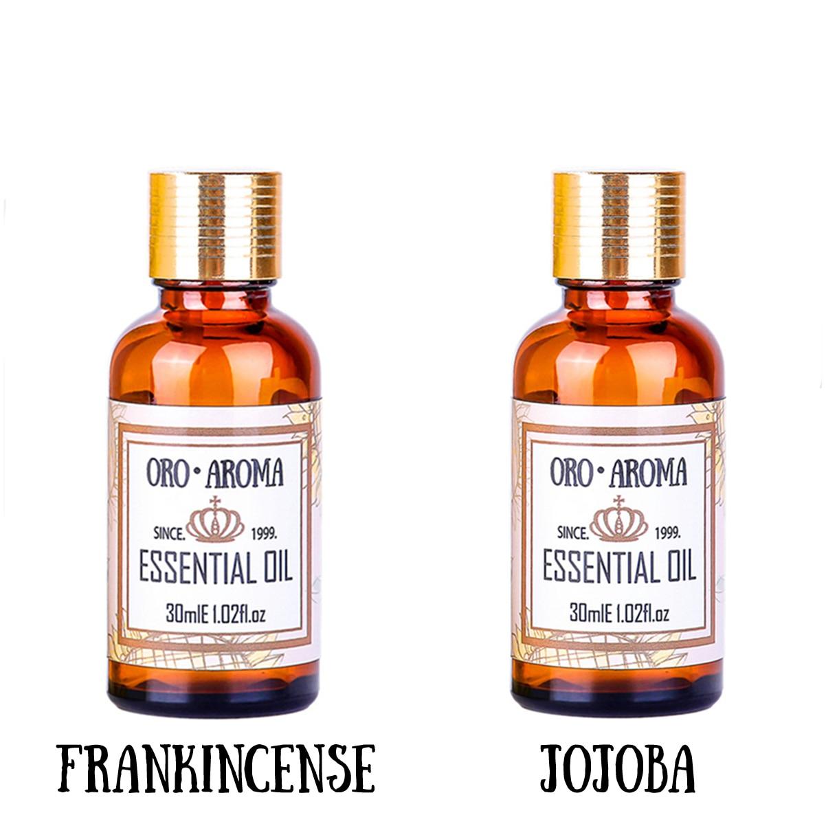 Famous Brand Oroaroma Anti Ageing Sets Frankincense Essential Oil Jojoba Oil Repair Wrinkles Scars Body Massage Oil 30ml*2
