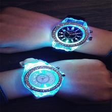 Women Men Silicone Band Quartz Sport illuminate Candy/Jelly Color Wrist Watch Jewelry & Watches Fashion Accessories
