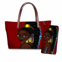 NOISYDESIGNS handbags for women traval beach bag black art african girls printing top-handle bags females shoulder tote bolsa
