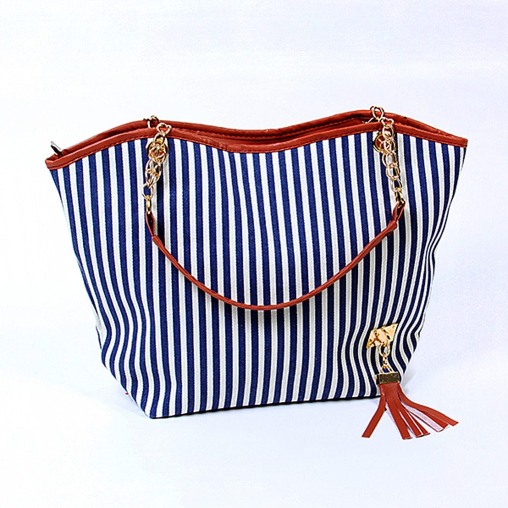 Holiday Bags Handbags Fashion Women Stripe Street Snap Candid Tote Canvas Shoulder Bag In From Luggage On Aliexpress Alibaba