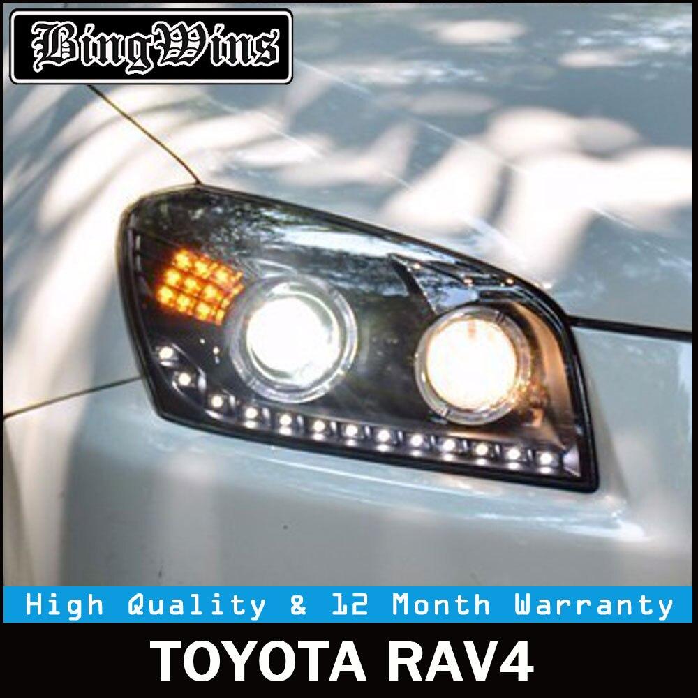 Car Head lamp for RAV4 LED Headlights 2009-2013 For RAV 4 Headlight LED DRL Lens Double Beam H7 HID Xenon Car Front light