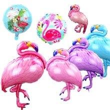 Flamingo Balloon Aluminum Foil Birthday Party Decoration Kids Supplies Hawaii Theme Summer