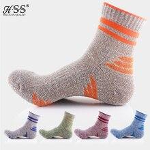 5 Paris/Lot 2016 Nuevo Monton Hombres Calcetines de Algodón de Alta Elasticidad calcetines de La Raya calcetines Calzado de Montaña ciclismo
