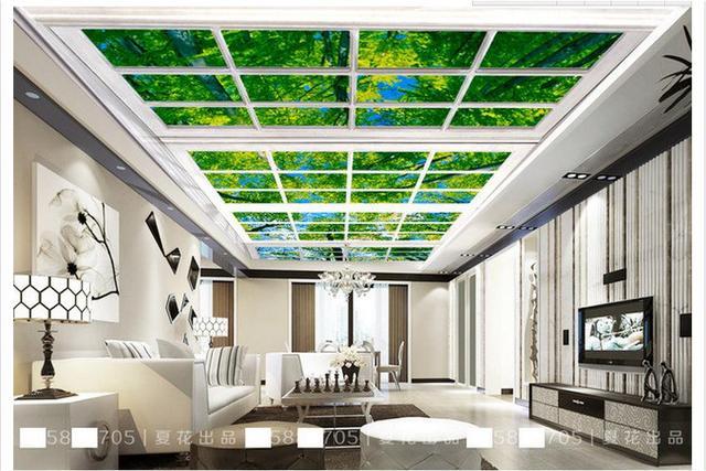kundenspezifische 3d fototapete 3d decke tapete. Black Bedroom Furniture Sets. Home Design Ideas