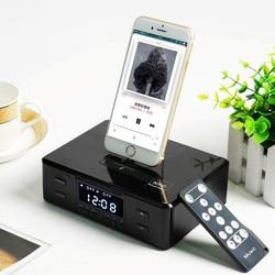 3 in 1  Bluetooth speaker  alarm clock desktop speaker mobile phone  charging base radio remote control Apple Android USB Type-C
