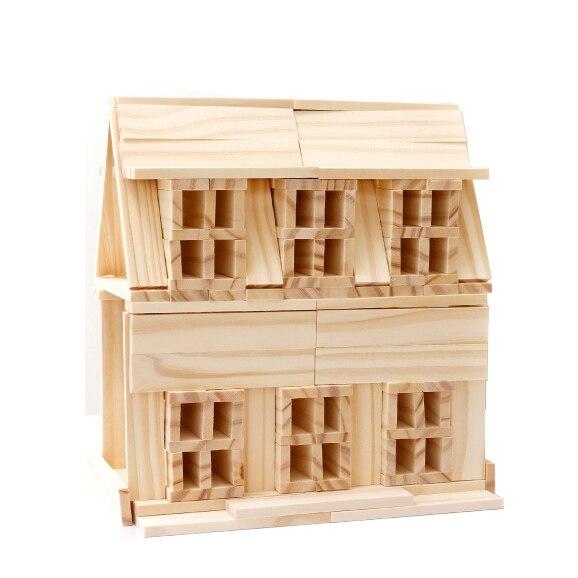 Chanycore Bébé D'apprentissage Éducatifs En Bois Jouets Jenga Blocs Domino 102 pcs mwz Forme Géométrique Montessori Enfants Cadeaux 4149
