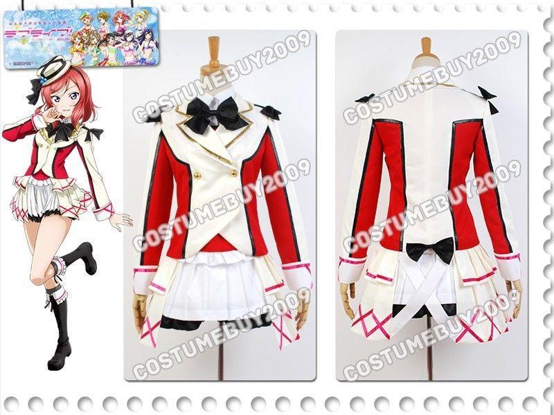 LoveLive School Idol Project Maki Nishikino Uniform Jacket Skirt font b Shirt b font Anime Halloween