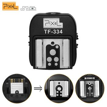 TF-334 pikseli adapter gorącej stopki do lampy błyskowej Nikon Canon i nowej kamery Sony z wieloma interfejsami A7 NEX6 A6300 A6000 A3000 A99 A77II tanie i dobre opinie WINOTAR For Canon Nikon Flash Speedlite trigger flash and studio light with pc port by pc connecting cable YONGNUO YN560III YN560IV VILTROX JY-680A TRIOPO TR-950