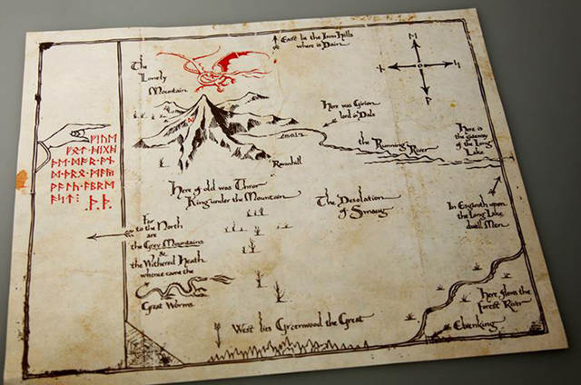 US $14.69 |Hot Sale High quality Hobbit Poster Maps Middle earth map Sauron  treasure map Lord of the Rings map Wholesale Free Shipping-in Map from ...