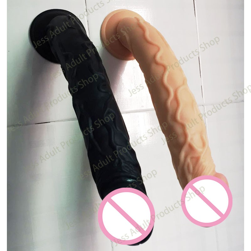 Silicone Dildo with Strong Suction Cup Realistic Penis, Multi Speed Vibrating Rotating Dildos Waterproof Silent Dildo Vibrators