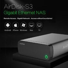 Airdisk s3 rede móvel disco rígido usb3.0 família rede inteligente armazenamento em nuvem remotamente móvel caixa de disco rígido (não hdd)