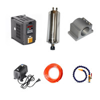 CNC woodworking machinery parts 800W Water Cooled Spindle Motor 65mm VFD 1.5KW Inverter 1set