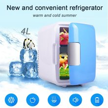 Mini Car Fridge 4 Liters Portable Refrigerator Cooler and Warmer with AC/DC Power Cords Super Quiet in-Vehicle Freezer for Car
