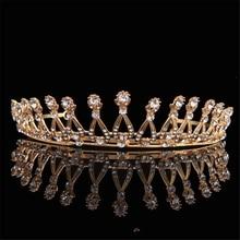 2017 New European Bride Headdress Retro Temperament Cystal Palace Queen Crown Zircon Wedding Dress Accessories Hair Jewelry FN-G