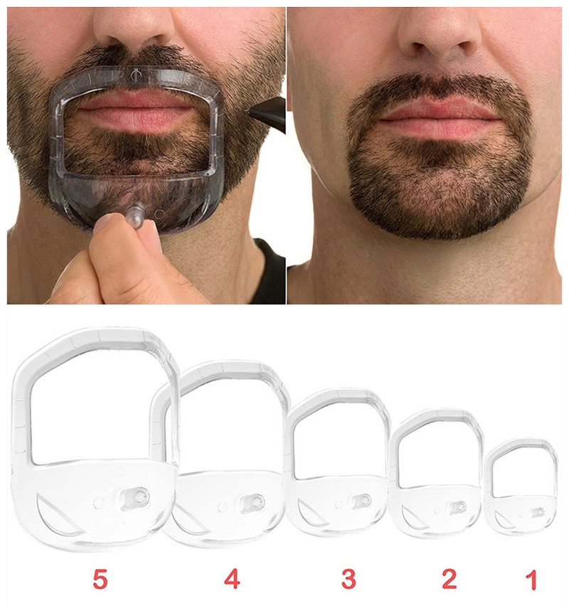 5Pcs/set High Quality Shower Salon Mustache Beard Styling Template Shaving Shave For Beard Shape Style Barba Comb Care Tool