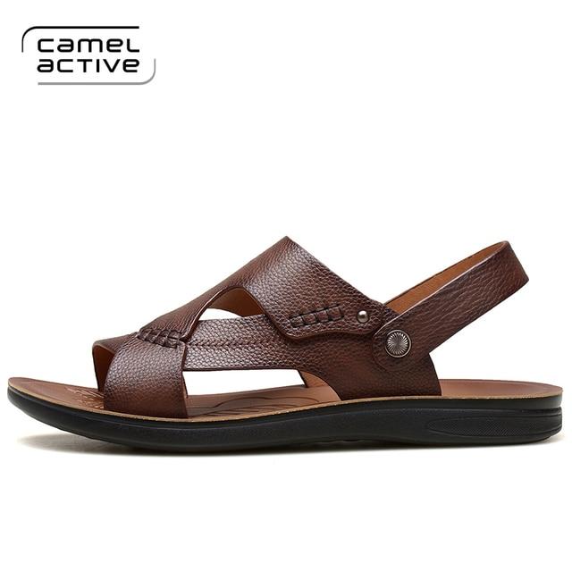 Eté Sandals Hommes Sandales en cuir Mens Casual Chaussures DLRIOZnxx