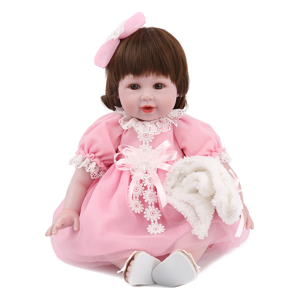 KAYDORA 22'' 55cm Silicone Reborn Cute Dolls For Baby Girl Vinyl Doll Toys Baby Soft Toys Princess Dress Kids