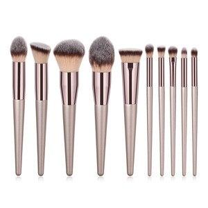 Image 5 - Juego de brochas de maquillaje kabuki, Accesorios de belleza para base y polvos cosméticos, colorete, sombra de ojos, 10 unidades