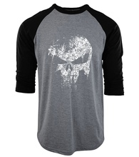 raglan three-quarter sleeve camisetas The Punisher Skull funny T Shirts men 2017 HIP-HOP fitness brand clothing cotton tops tees