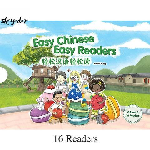 facil chines leitores faceis volume 3 simplificado 16 pcs set materiais de leitura de chines