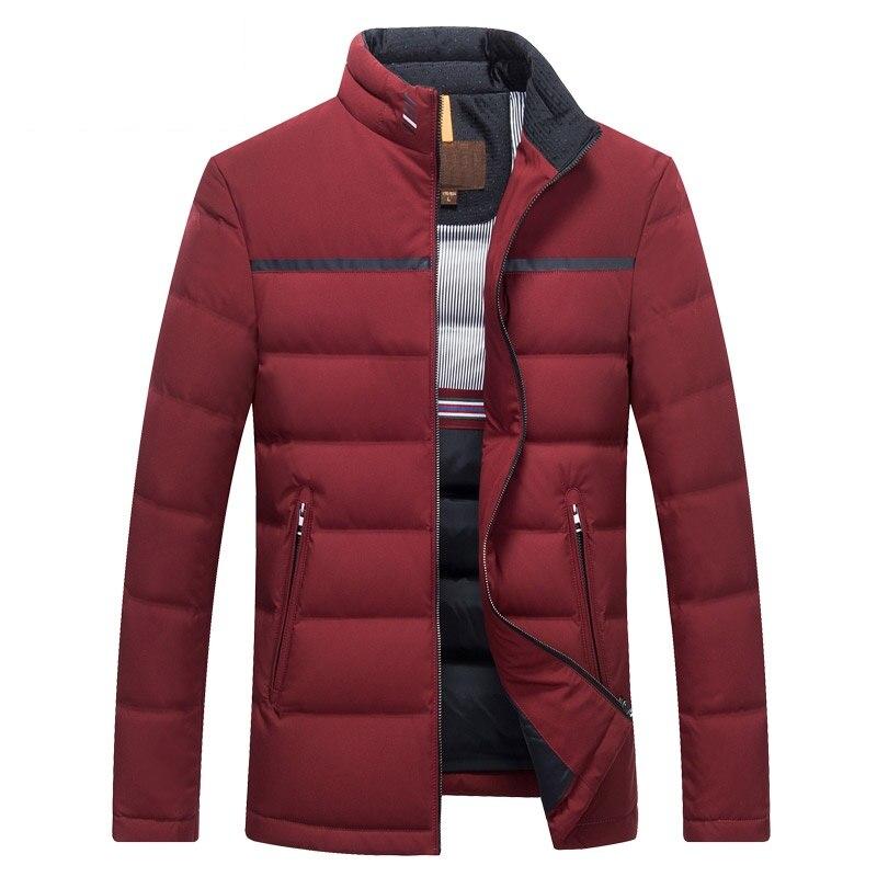 DZYS Men's White Duck   Down   Jacket Slim Warm Outwear   Down     Coat   for Men Male 7881