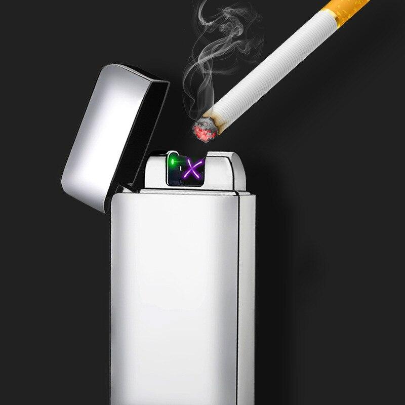 Newest Electronic Usb Charging Double Arc Lighter Plasma Eletronic Pulse Laser Induction Lighters Cigarette Cigar Smoke
