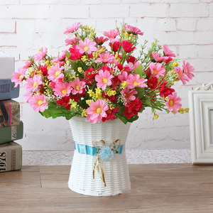 Image 5 - 1 Bunch 28 Head Cineraria Artificial Flower Bouquet Home Office Decor silk daisy artificial decorative indoor outdoor A12150