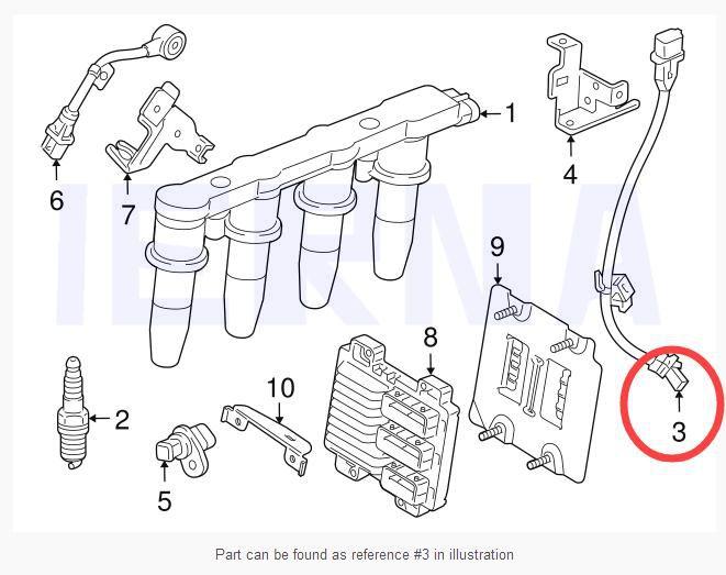 US $12 49 10% OFF|IERNA Crankshaft Position sensor for Chevrolet Cruze  Sonic 55567243 2134690 5S12698-in Crankshaft/Camshafts Position Sensor from