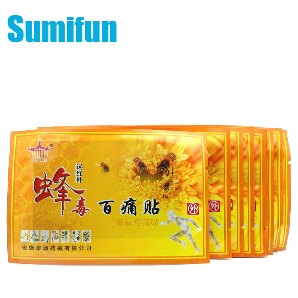 Sumifun 1bag Bee Venom Balm Joint Pain Patch Neck Back Body Relaxation Pain Killer Body Pain Relief Orthopedic Plasters C329
