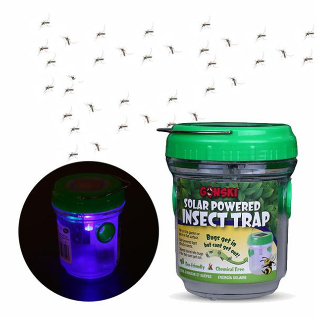 DC 3.2V Portable Solar Mosquito Trap Mosquito Killing Lamp Insect Traps Outdoor